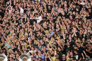 Crowd shot of the Vanderbilt vs. South Carolina football game on August 30, 2012.