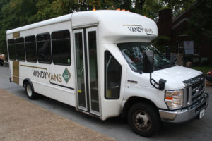 Rodney McKissack drives one of Vanderbilt's many Vandy Vans.
